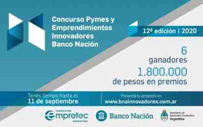 Concurso Pymes y Emprendimientos Innovadores Banco Nación